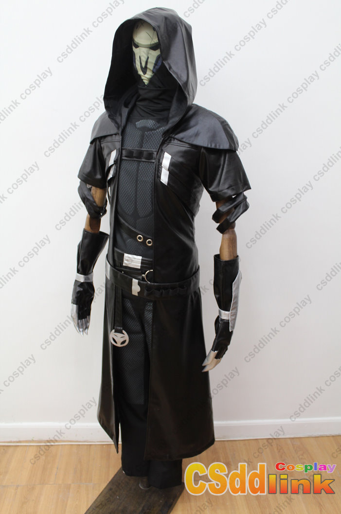 overwatch reaper cosplay costume with mask black csddlink cosplay