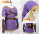 The legend of zelda twilight princess link cosplay costume purpl