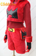 Pokemon Team Magma Grunt Ruby Cosplay Costume red plush